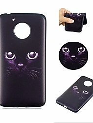 cheap -Case For Motorola MOTO G5 Pattern Back Cover Cat Soft TPU for Moto G5