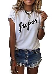 billige -Dame - Ensfarvet Bomuld, Kvast Vintage T-shirt Sort og hvid