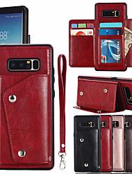 baratos -Capinha Para Samsung Galaxy NNote 8 Porta-Cartão Capa Proteção Completa Sólido Rígida PU Leather para Note 8