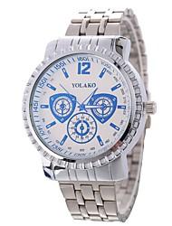 baratos -Xu™ Mulheres Relógio de Pulso Chinês Criativo / Relógio Casual / Mostrador Grande Lega Banda Luxo / Fashion Prata / Um ano