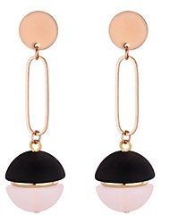 cheap -Women's Long Drop Earrings - Vintage, Ethnic, Fashion Black / Yellow / Pink For Party / Evening / Going out