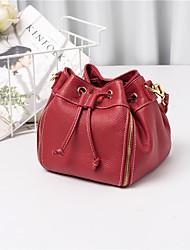 baratos -Sacos de mulheres tote de couro napa zipper blushing rosa / vermelho / preto
