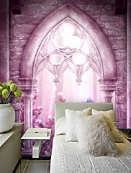 baratos -Mural Tela de pintura Revestimento de paredes - adesivo necessário Art Deco / Padrão / 3D
