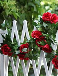 baratos -Flores artificiais 1 Ramo Clássico Rústico / Casamento Rosas Guirlandas & Flor de Parede