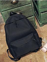 cheap -Women's Bags Canvas School Bag Zipper Blushing Pink / Dark Blue / Light Grey