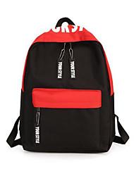 cheap -Women's Bags Canvas School Bag Zipper Blue / Red / Light Grey