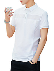 cheap -Men's Active / Basic Polo - Solid Colored / Color Block