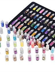 Недорогие -48PCS Искусственные советы для ногтей Блеск Инструмент для ногтей Модный дизайн / Отблеск / 48 цветов маникюр Маникюр педикюр Декоративные / Высокое качество Повседневные / Украшения для ногтей