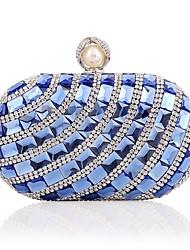 baratos -Mulheres Bolsas Liga Bolsa de Festa Detalhes em Cristal Azul / Dourado / Prateado