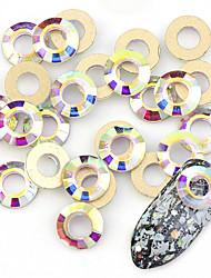 baratos -10 pcs Dicas de unhas artificiais Nail Art Kit Jóias de Unhas Design Moderno / Criativo arte de unha Manicure e pedicure Roupa Diária Estiloso / Jóias de unha