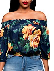 billige -Bateau-hals Dame - Ternet T-shirt