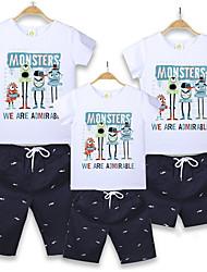 cheap -Family Look Animal Short Sleeve Clothing Set