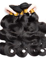 cheap -Malaysian Hair Wavy Natural Color Hair Weaves / Human Hair Extensions 6 Bundles 8-28 inch Human Hair Weaves Capless Fashionable Design / Best Quality / For Black Women Natural Black Human Hair