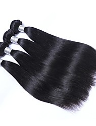 cheap -4 Bundles Brazilian Hair Straight Human Hair Natural Color Hair Weaves / Extension / Bundle Hair 8-28 inch Human Hair Weaves Machine Made Best Quality / Hot Sale / For Black Women Black Natural Color