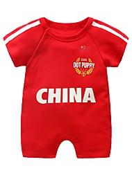cheap -Baby Unisex Black & White Geometric / Print Short sleeves Romper