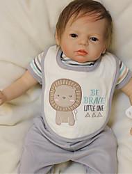 Недорогие -OtardDolls Куклы реборн Мальчики 22 дюймовый Силикон - Новорожденный как живой Экологичные Подарок Ручная работа Безопасно для детей Детские Мальчики / Девочки Игрушки Подарок / Non Toxic