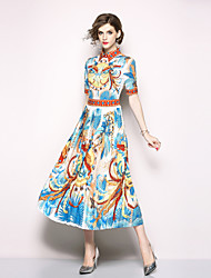 economico -Per donna Moda città Swing Vestito - Con stampe, Animali Medio