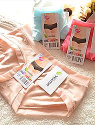 abordables -Mujer Short y Slip de Chico Un Color Baja cintura
