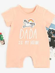 お買い得  -赤ちゃん 女の子 プリント 半袖 ワンピース