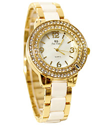 cheap -Women's Dress Watch Wrist Watch Quartz 50 m Casual Watch Ceramic Band Analog Elegant Gold - Gold Silver Two Years Battery Life / Stainless Steel