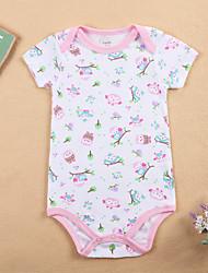 お買い得  -赤ちゃん 女の子 プリント 半袖 ボディスーツ