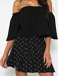 billige -Bateau-hals Dame - Prikker Strand T-shirt