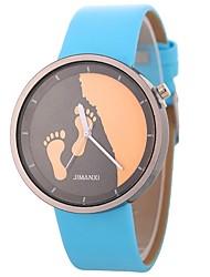 baratos -Xu™ Mulheres Relógio de Pulso Chinês Criativo / Adorável / Mostrador Grande PU Banda Minimalista / Esqueleto Preta / Branco / Azul / Um ano