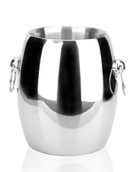 cheap -Ice Bucket & Wine Cooler Stainless steel, Wine Accessories High Quality Creative for Barware Easy to Use 1pc