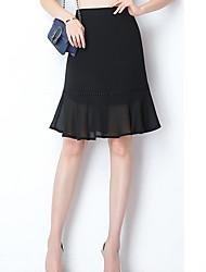 povoljno -žene izlaze iznad koljena linije suknje - cvjetni