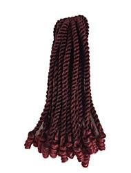 economico -Capelli intrecciati Riccio Ricci intrecciati / Trecce Crochet pre-ciclo Capelli sintetici 1 capelli Trecce Multicolore 35cm Resistente al calore / Treccia colorata schiarita / 100% capelli kanekalon