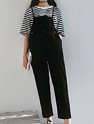 economico -Per donna Cotone Taglia piccola Chino / Tuta da lavoro Pantaloni - Tinta unita