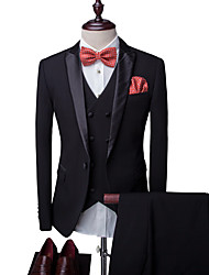 cheap -Men's Party Business Casual Slim Suits-Solid Colored Notch Lapel / Please choose one size larger according to your normal size.