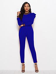 cheap -Women's Basic / Street chic Jumpsuit - Color Block