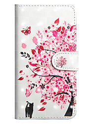 cheap -Case For Sony Xperia XA2 Ultra / Xperia XA1 Ultra Wallet / Card Holder / with Stand Full Body Cases Cat / Tree Hard PU Leather for Sony Xperia XZ2 / Sony Xperia XZ2 Compact / Xperia XZ2 Compact