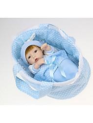 Недорогие -NPKCOLLECTION NPK DOLL Куклы реборн Мальчики 12 дюймовый Полный силикон для тела Силикон - Новорожденный Подарок Искусственная имплантация Коричневые глаза Детские Мальчики Игрушки Подарок