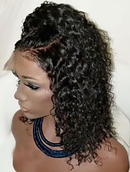 cheap -Synthetic Lace Front Wig Curly Side Part Synthetic Hair With Baby Hair / Heat Resistant / Natural Hairline Black Wig Women's Short Lace Front Wig / African American Wig / Yes / For Black Women