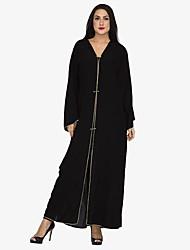 abordables -Abaya Femme - Couleur Pleine / Créatif Chic de Rue / Sophistiqué Mosaïque