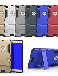 Недорогие -Кейс для Назначение Huawei P8 со стендом Кейс на заднюю панель Однотонный Твердый ПК для Huawei P8