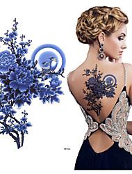 abordables -3 pcs Tatouages Autocollants Tatouages temporaires Séries de fleur Arts du Corps épaule