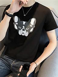 baratos -Homens Camiseta Básico Animal