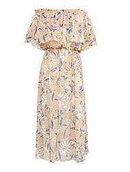 povoljno -Žene Šifon Haljina Cvjetni print Midi