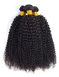 cheap -3 Bundles Brazilian Hair Curly Human Hair Natural Color Hair Weaves / Hair Bulk / Extension 8-28 inch Natural Color Human Hair Weaves Machine Made Best Quality / Hot Sale / For Black Women Human Hair