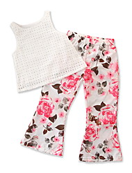 cheap -Baby Girls' Floral / Print Sleeveless Clothing Set