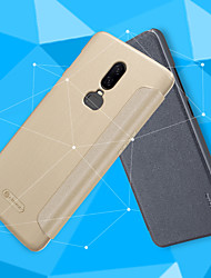 economico -Custodia Per OnePlus OnePlus 6 / OnePlus 5T Con chiusura magnetica / Effetto ghiaccio Integrale Tinta unita Resistente pelle sintetica per OnePlus 6 / One Plus 5 / OnePlus 5T