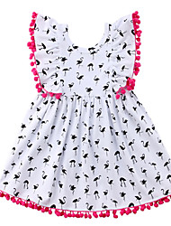 お買い得  -赤ちゃん 女の子 ソリッド ノースリーブ ドレス