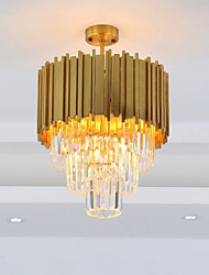 cheap -QIHengZhaoMing 4-Light Crystal Chandelier Ambient Light 110-120V / 220-240V, Warm White, Bulb Included / 10-15㎡