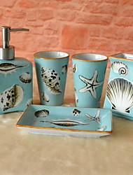 Недорогие -Набор аксессуаров для ванной Новый дизайн / Очаровательный Modern Керамика 5 шт. - Ванная комната Односпальный комплект (Ш 150 x Д 200 см)