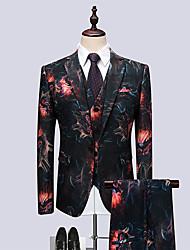 cheap -Men's Party Business Casual Suits-Floral Notch Lapel / Long Sleeve