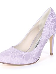 cheap -Women's Shoes Satin Spring & Summer Basic Pump Wedding Shoes Stiletto Heel Round Toe Green / Blue / Ivory / Party & Evening