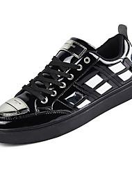 economico -Per uomo Vernice Estate Comoda Sneakers Nero / Argento / Rosso